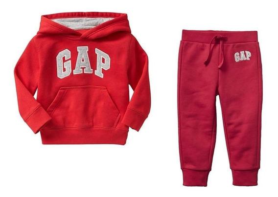 Conjunto Gap Sudadera Y Pantalon Rojo Nuevo Talla 2 3 4 5