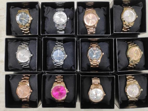 Kit 9 Relógios Femininos + Bateria + Revenda Barato