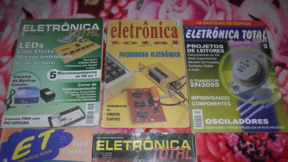 Revista Eletronica Total Lote Com 5 Peças