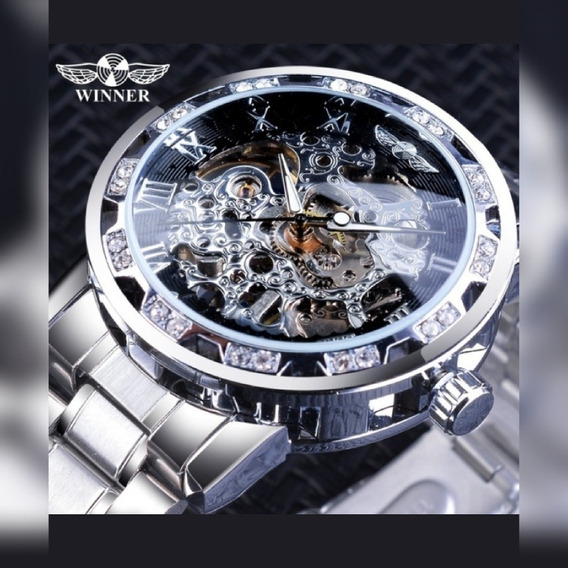 Relógio T Winner Skeleton Automático Entrega Imediata