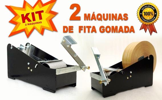 Kit Com 2 Máquinas Aplicador Fita Gomada * Com/sem Reforço*