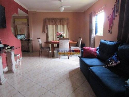 Sobrado Com 3 Dormitórios À Venda, 138 M² Por R$ 585.000,00 - Centro - São Vicente/sp - So0343