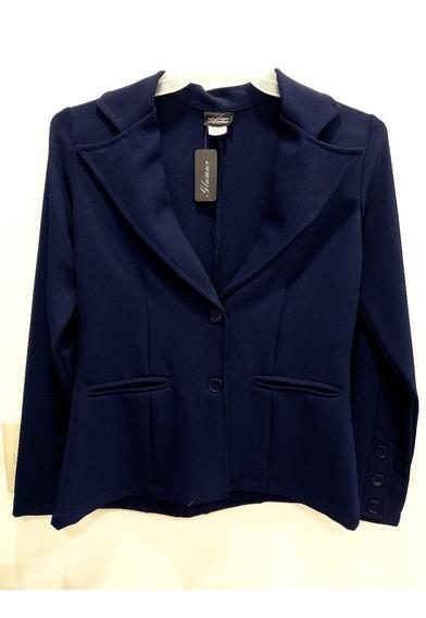 Saco Para Dama De Vestir Azul Marino Marca Glamur