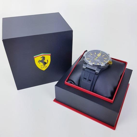 Relógio Masculino Ferrari Amarelo E Preto