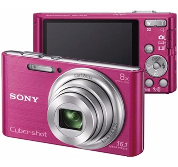 Câmera Sony Cyber-shot W730 Rosa 16.1mp + Memory Card 8gb