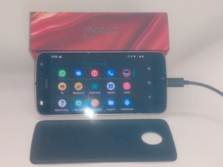 Moto Z2 Play Platinum 64 Gb Com Avaria Na Tela Funcionando
