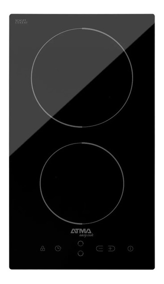 Anafe Vitroceramico Atma 2 Hornallas Cae3020v Digital 30 Cm