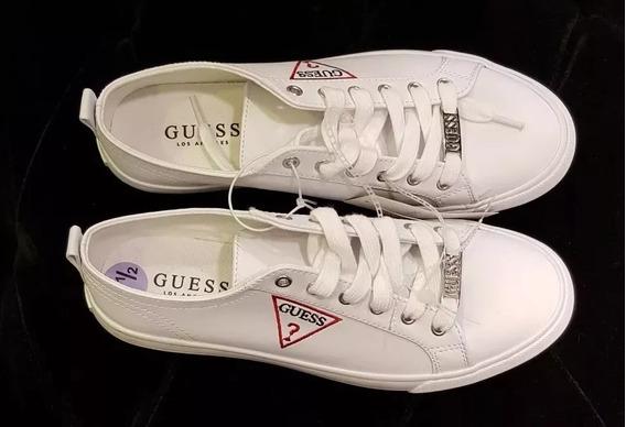 Zapatillas Guess Blancas Mujer Nuevas Originales Importadas