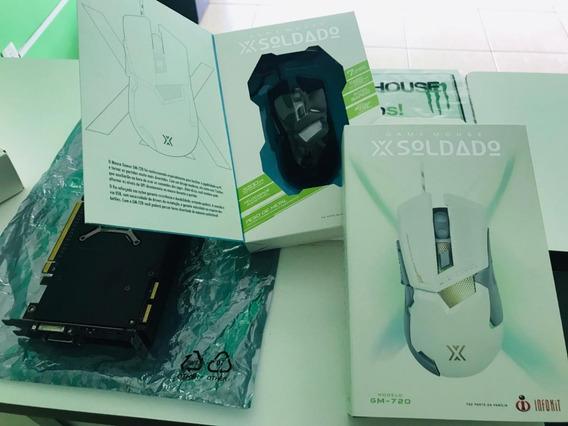 Mouse Gamer 7d X Soldado Led Rgb Cabo Nylon Gm-720 3200dpi