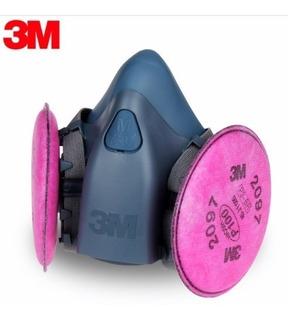 J Seg Respirador Media Cara Silicona 7500 3 M - Completo
