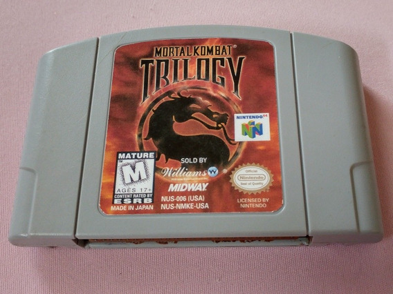 N-64: Mortal Kombat Trilogy Original Americano!! Raríssimo!!