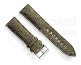 Pulseira Nylon Cordura Verde Militar 22mm C/ Engate Rápido