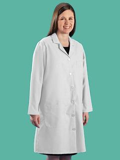 Bata De Laboratorio Blanca Poliester/algodon Talla M Mujer
