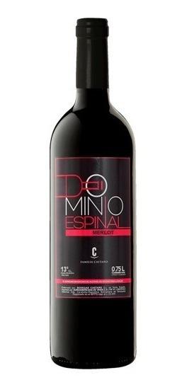 Vino Dominio Espinal Merlot Tinto Caja 12 Bot 0.75 L