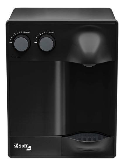Purificador Água Refrigerado Por Compressor Soft Star New Black
