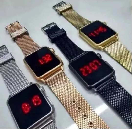 Lote 10 Relógios Digital Quadrado Masculino Feminino Atacado