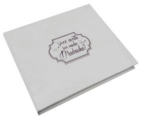 Caixa Rígida Com Álbum Madrinha Branco