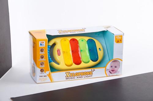 Xilofon Infantil Con Luz Y Sonido Jem