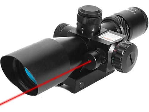 Imagem 1 de 5 de Luneta Profissional Com Laser 2.5-10x40 Zoom 10x Espingarda