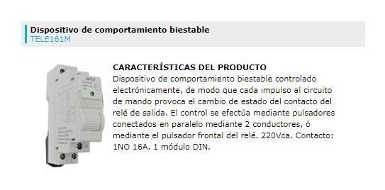 Telerruptor Modular 1no 16a 220vca