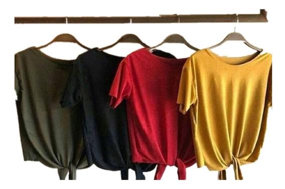 C/3 Camiseta Camisa Feminino Suede Tshirt Blusa Promocao