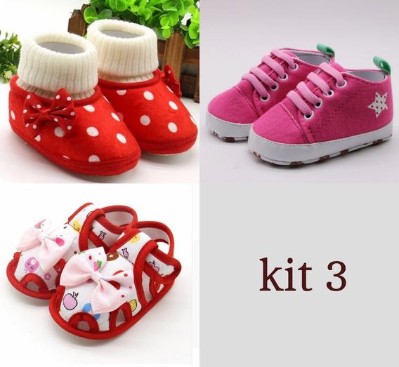 Kit Bebê Menina 3 Unidades Promoção