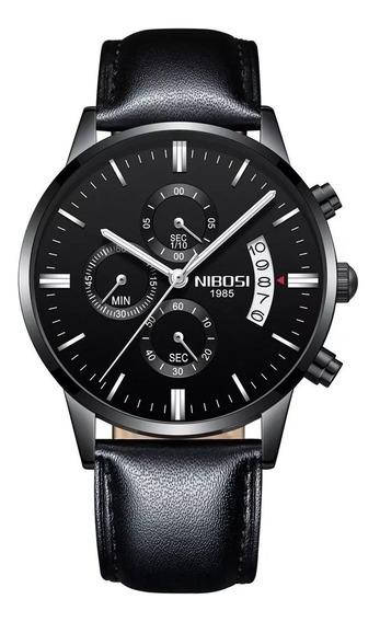 Relógio Nibosi Masculino Original - Vidro Safira