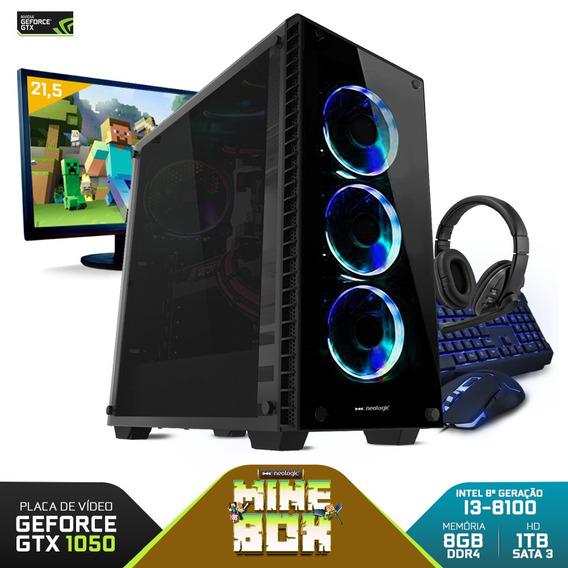 Kit Gamer Neologic Nli81003 I3-8100 8gb (gtx 1050) 1tb,21,5