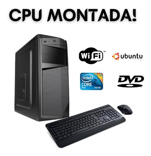 Imagem 1 de 3 de Cpu Pc Star Core 2 Duo 4gb Ram Hd 500gb Wifi Dvd Linux.