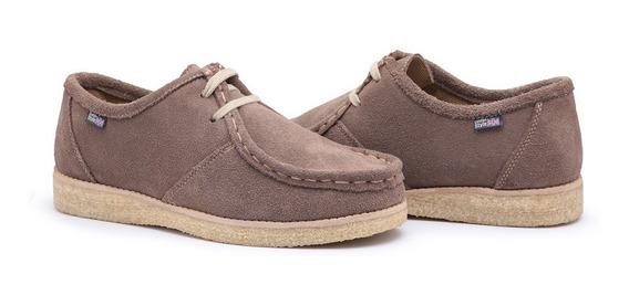 Sapato Cacareco Estilo Clarks Com Sola Crepe E Camurça