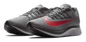 Tênis Nike Zoom Fly Gunsmoke Grey Bright Crimson