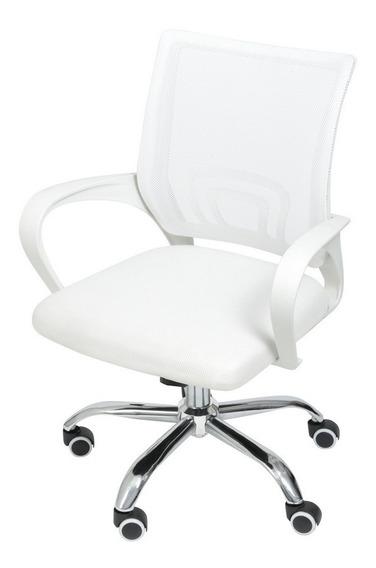 Cadeira Escritorio Secretária Giratória Flex Branca