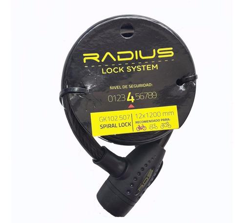 Candado / Linga De Seguridad P/ Bici Radius 12 X 1200mm