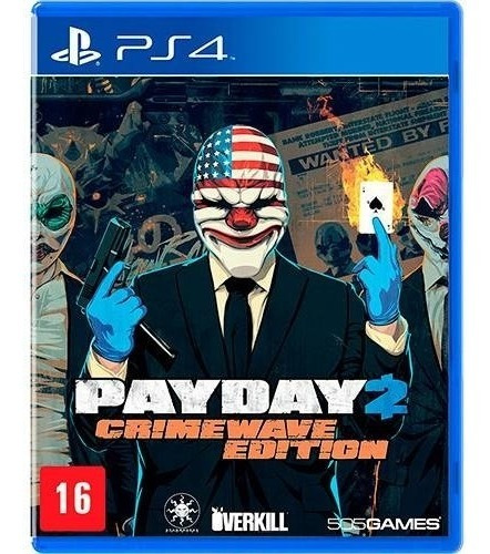 Jogo Payday 2 Crimewave Edition Playstation 4 Mídia Física