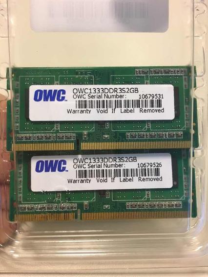 Memoria 2x2gb iMac Mid 2011 Ddr 3 1333 Apple Certificada Owc