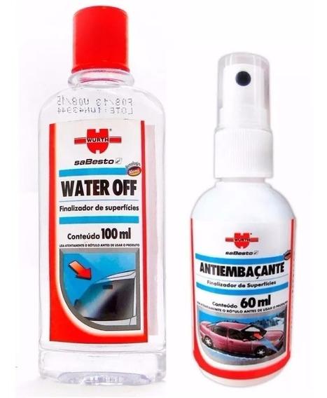 Kit Wurth Water Off Sellador De Vidrios Y Antiempañante