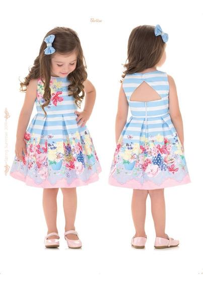 Vestido Luxo Paraiso Menina Moda Infantil 1 2 3 4 Num 8649