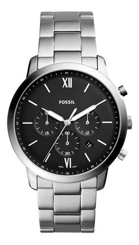 Imagen 1 de 8 de Reloj Caballero Fossil Fs5384 Color Plata De Acero