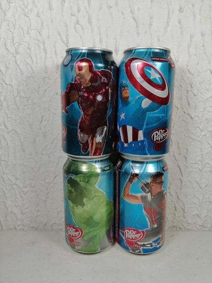 El Latas Dr. Pepper The Avengers Marvel Hulk, Ironman.