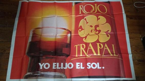 Afiche Publicidad Vino Tinto Trapal Coleccion Papeleria