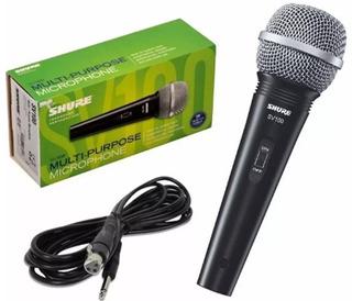 Micrófono De Mano Dinámico Shure Sv100 Con Cable Original