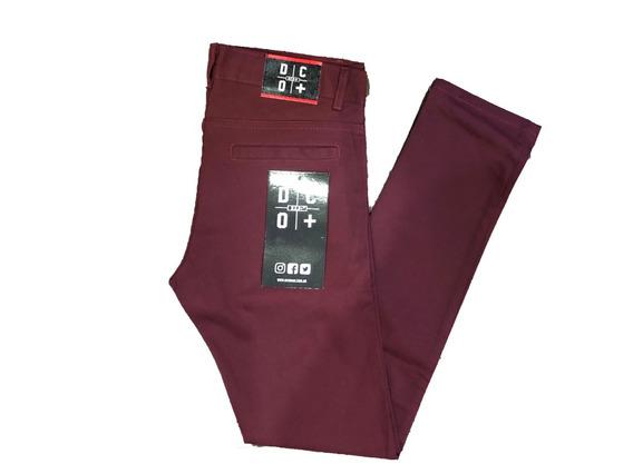 Pantalón De Hombre Gabardina Chupin Elastizado Dco+