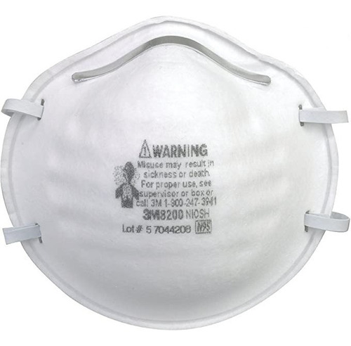 Mascarilla Respirador Barbijo 3m N95 (8200) Caja X 20 U