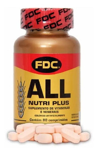 Fdc All Nutri Plus 80 Comp Polivitamínico Importado Usa