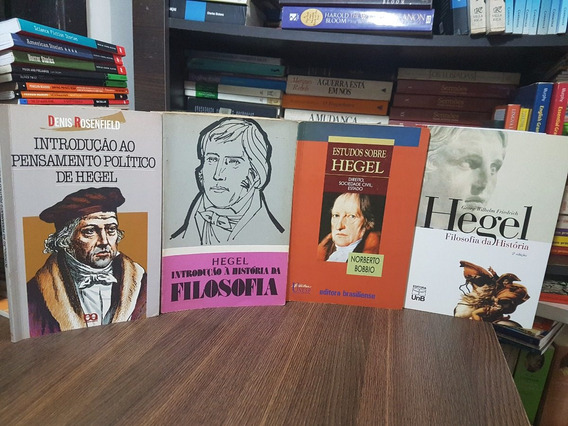 Lote: 4 Livros Sobre Hegel