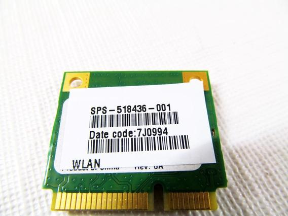 Placa Wireless Wifi Para Notebook Hp Compaq Cq60 518436-001