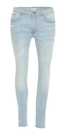 Jeans Corte Super Skinny De Hombre C&a Stretch Básicos