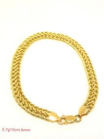 Pulseira Lacraia Em Ouro 18k 750 19cm