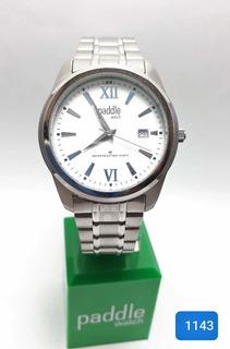 Reloj Paddle Watch Hombre Acero Con Fechador #1143