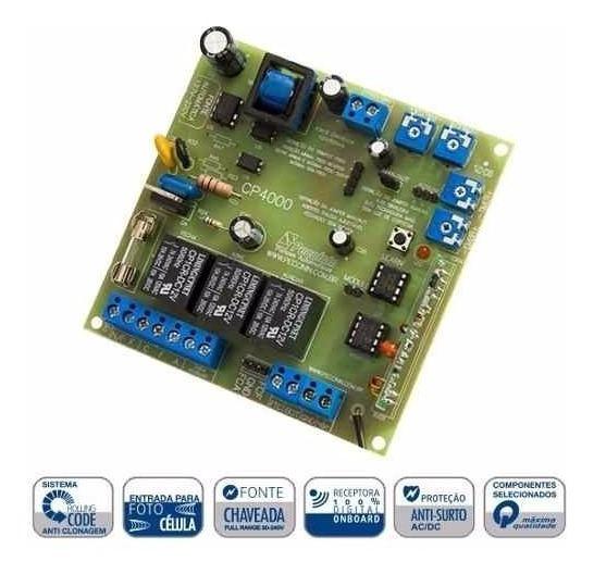 Placa Central Eletronica Peccinin Cp4010/4000 P/motor Portão
